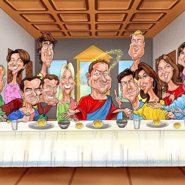 Corporate Digital Gift Caricatures