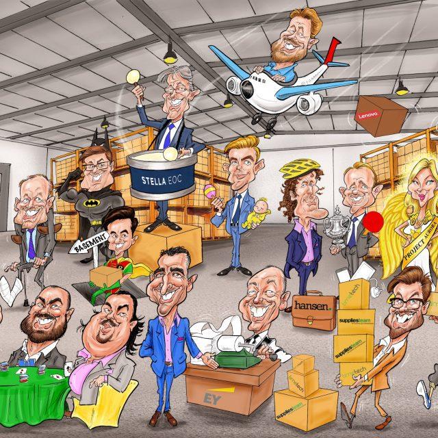 Corporate Gift Digital Caricatures