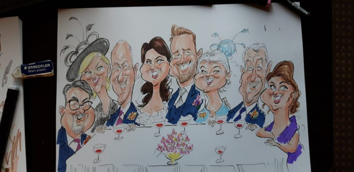 COLOUR TOP TABLE CARICATURES