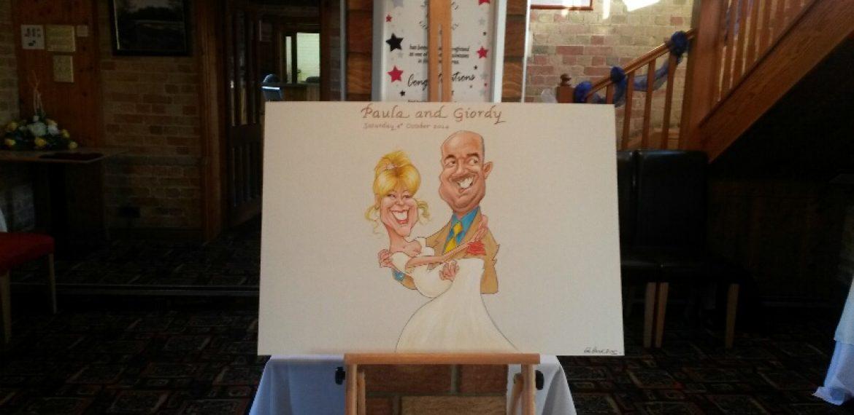Wedding caricatures Signature Board
