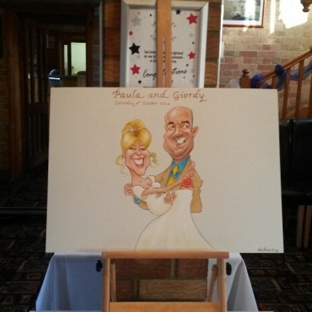 Wedding caricatures Signature Board