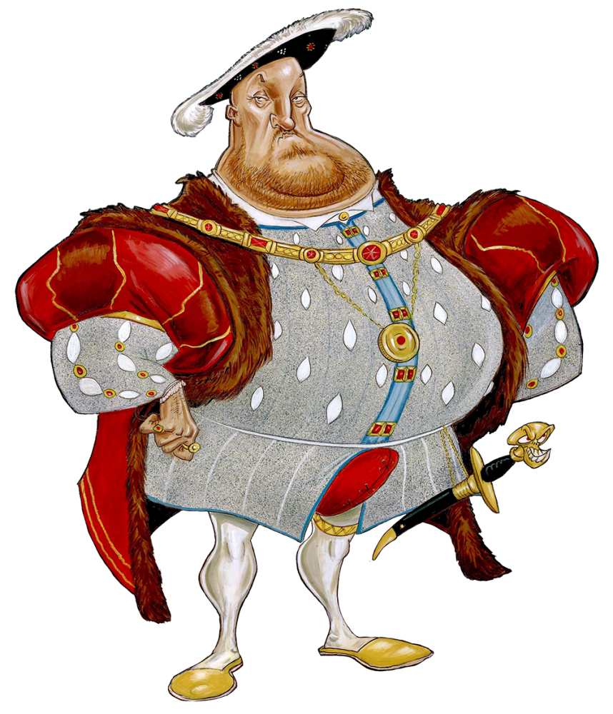 Caricature of Henri the VIII