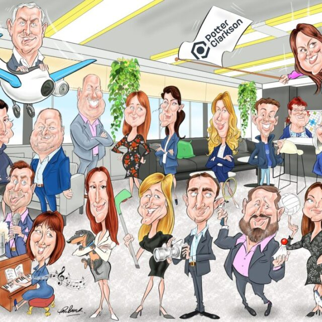 Corporate Group Caricature